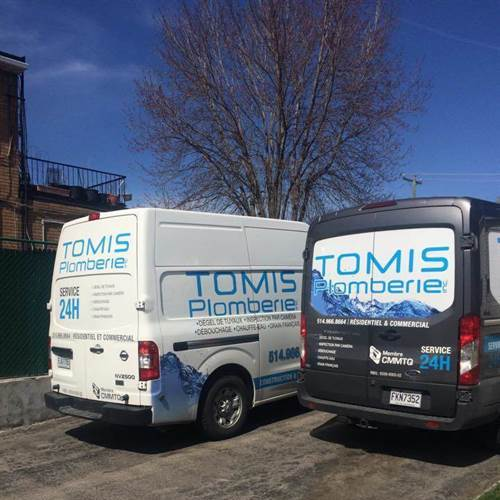 Two of our service vans